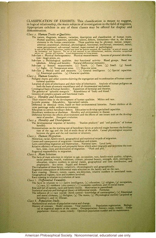 The exhibit of the Third International Congress of Eugenics (2)