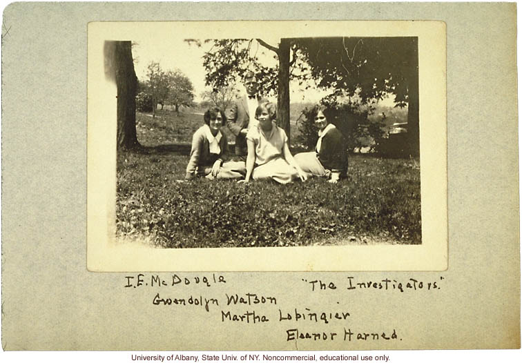 """The Investigators,"" Ivan E. McDougle and assistants (Gwendolyn Watson, Martha Lobingier, Eleanor Harned), in Amherst County, Virginia"