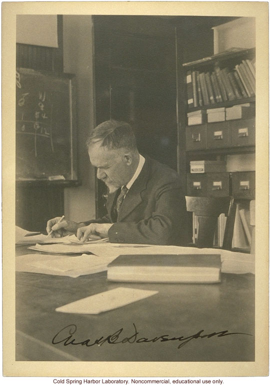 Charles B. Davenport, Director of Biological Laboratory, Carnegie Department of Genetics and Eugenics Record Office, Cold Spring Harbor (signed)