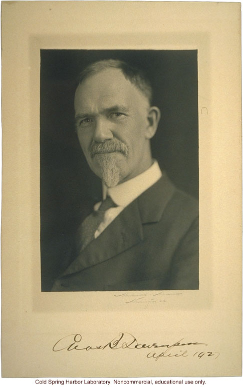 Charles B. Davenport, Director of Biological Laboratory, Carnegie Department of Genetics and Eugenics Record Office, Cold Spring Harbor (2)