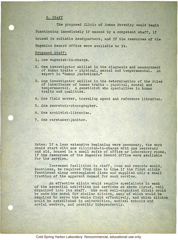 Only Fraction Of Students Are Prepared >> Proposed Clinic Of Human Heredity A Plan Prepared By Harry H