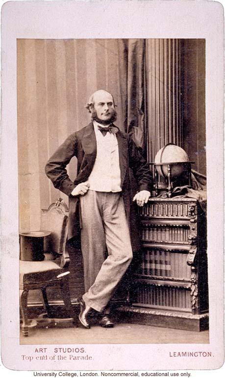 Francis Galton Carte De Visite Portrait Standing