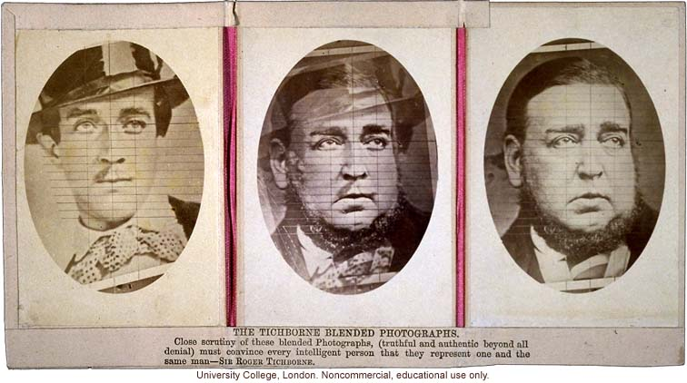 """The Tichborne Blended Photographs,"" of Sir Roger Tichborne and man who claimed to be Tichborne"