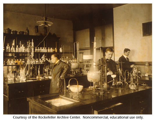 Gallery 15:  Levene's laboratory with some of his students